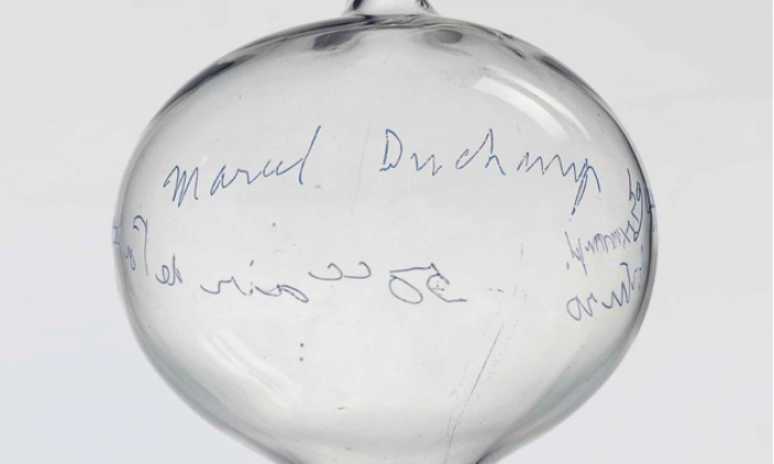 Image: Marcel Duchamp (1887-1968) Air de Paris, 1964. Exempl. Arturo 50cc air de Paris (on the ampoule); inscribed and engraved 'Marcel Duchamp 1964 Ex Arturo Air de Paris, 1919 Edition Galerie Schwarz, Milan'. This work is one of two artist's proofs from an edition of eight replicas, plus two artist's proofs and two replicas outside of the edition.