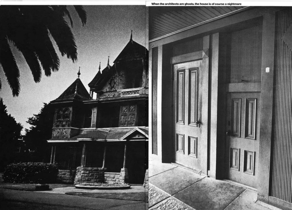 """Tangents XV, """"Designs for the Haunted House"""" cover. (Source: Anne Garner Papers, History San Jose)"""