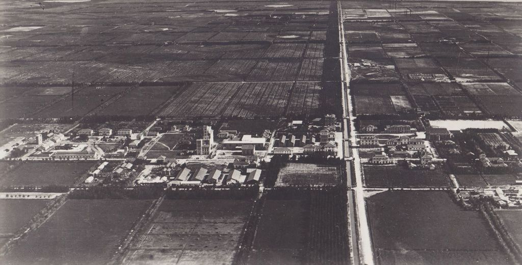 View of Arborea (formerly Mussolinia), a new town founded in 1928 and built on reclaimed land, Sardinia, 1930–1935. Archivio di Stato di Oristano