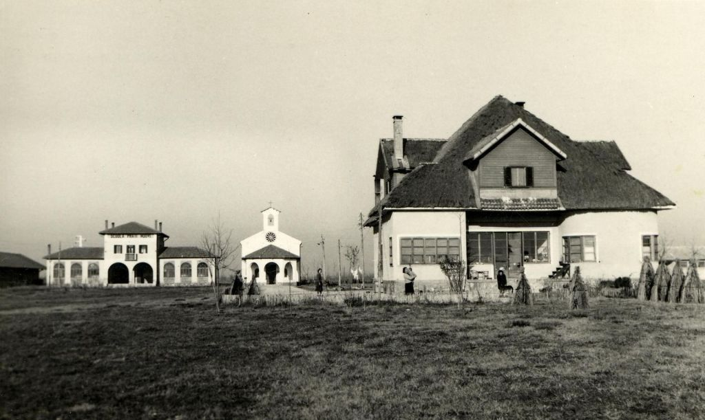 New farmhouses built on reclaimed swamplands, north of Venice, c. 1920-1935