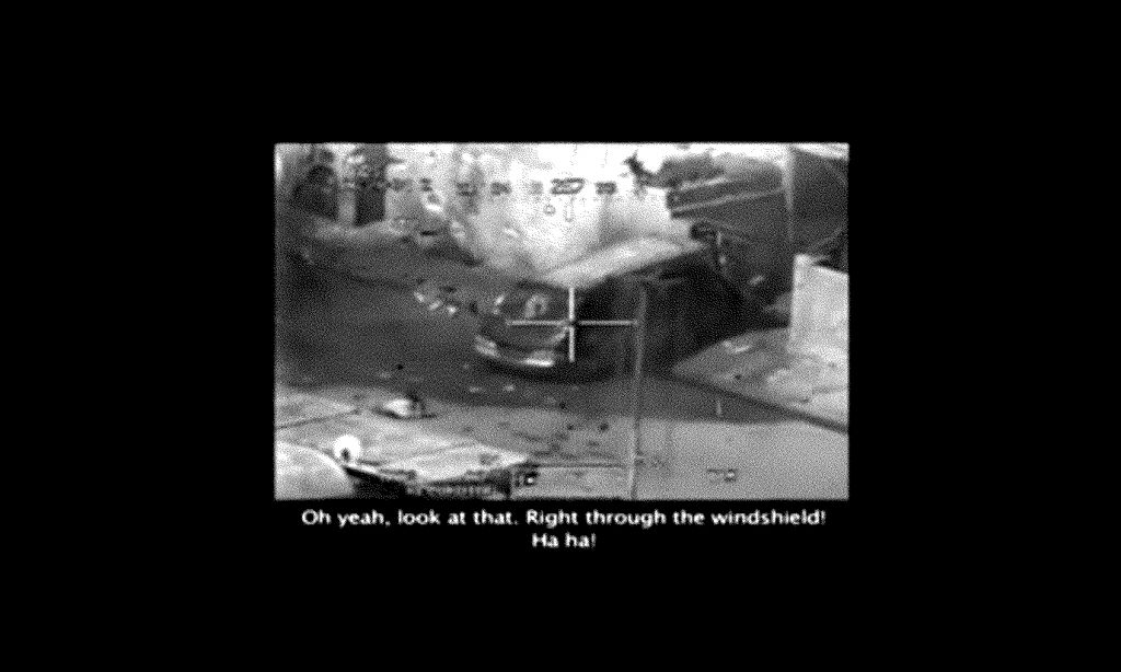 Classified military footage released by WikiLeaks showing an attack by US military in the Iraqi suburb of New Baghdad. Screenshot from a video released by Wikileaks, description on IMDB. https://www.imdb.com/title/tt1820416/