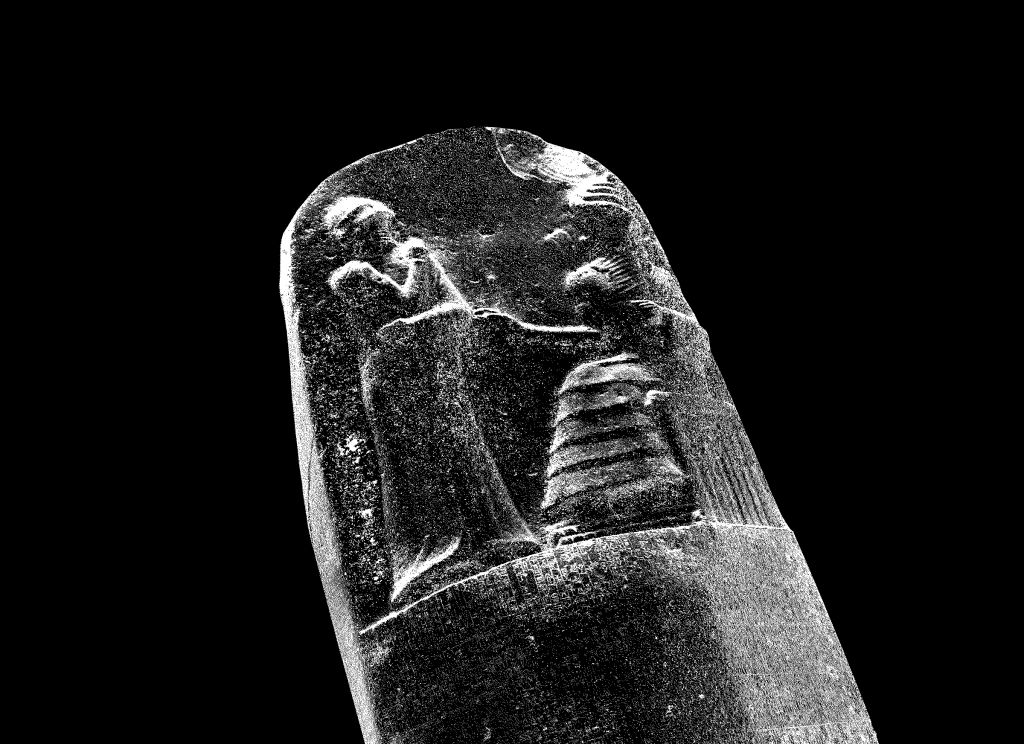 Stele, screen capture by Chris Lee of a 3D scan.