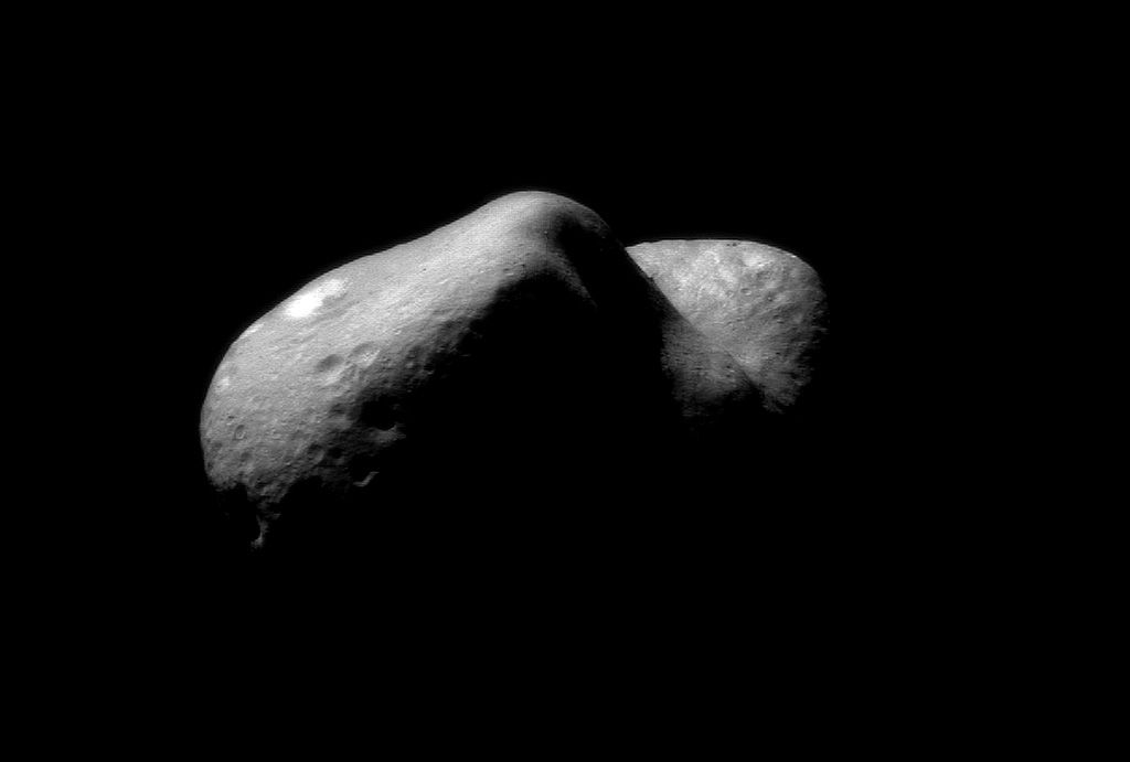 Eros, a stony asteroid, taken on February 14, 2001. NASA/NEAR Project (JHU/APL)