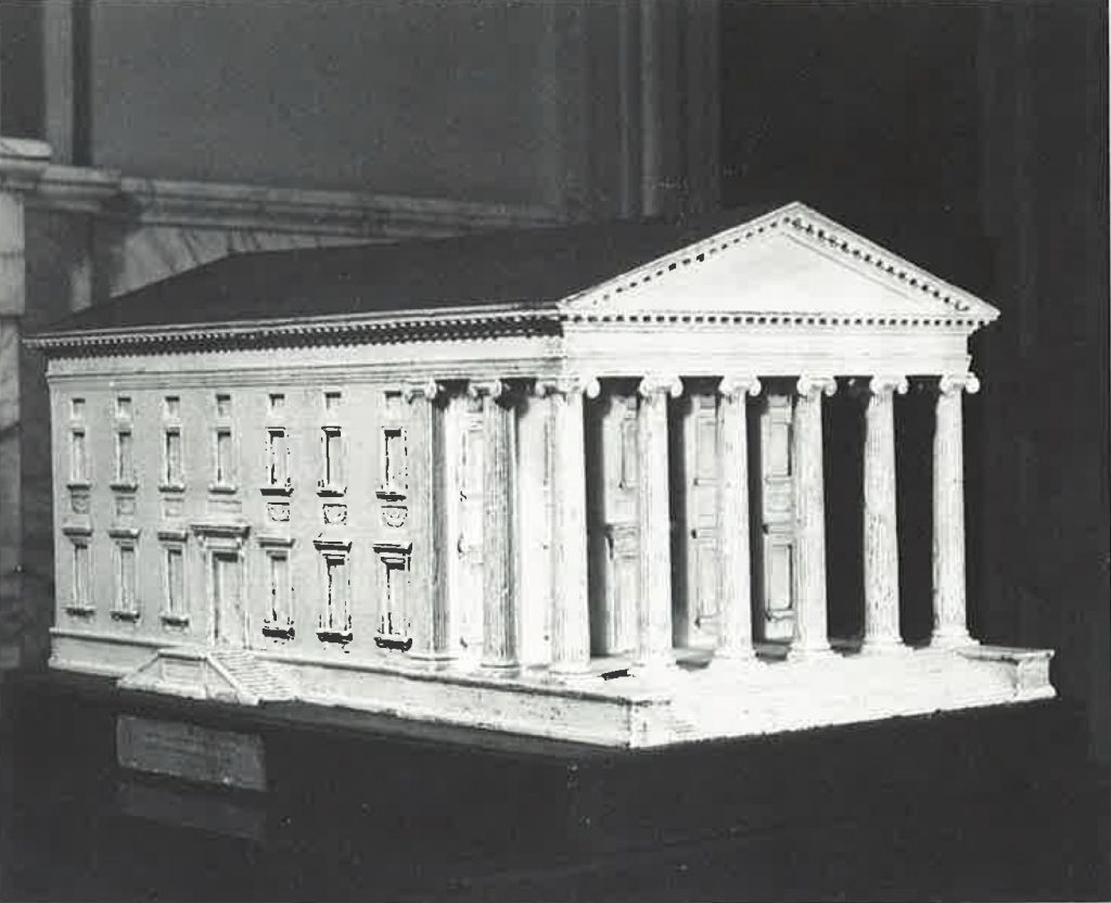 Virginia State House, maquette uit 1787 in opdracht van Thomas Jefferson, fotograaf onbekend